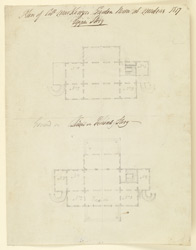 Plan of Colonel MacKenzie's Garden House, Madras, showing ground floor and upper story